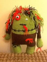 Carol's knitted monster
