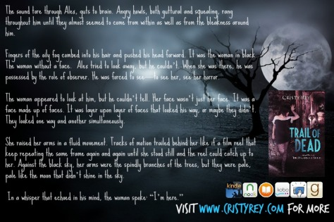 Halloween dark scenery with naked trees, full moon and clouds